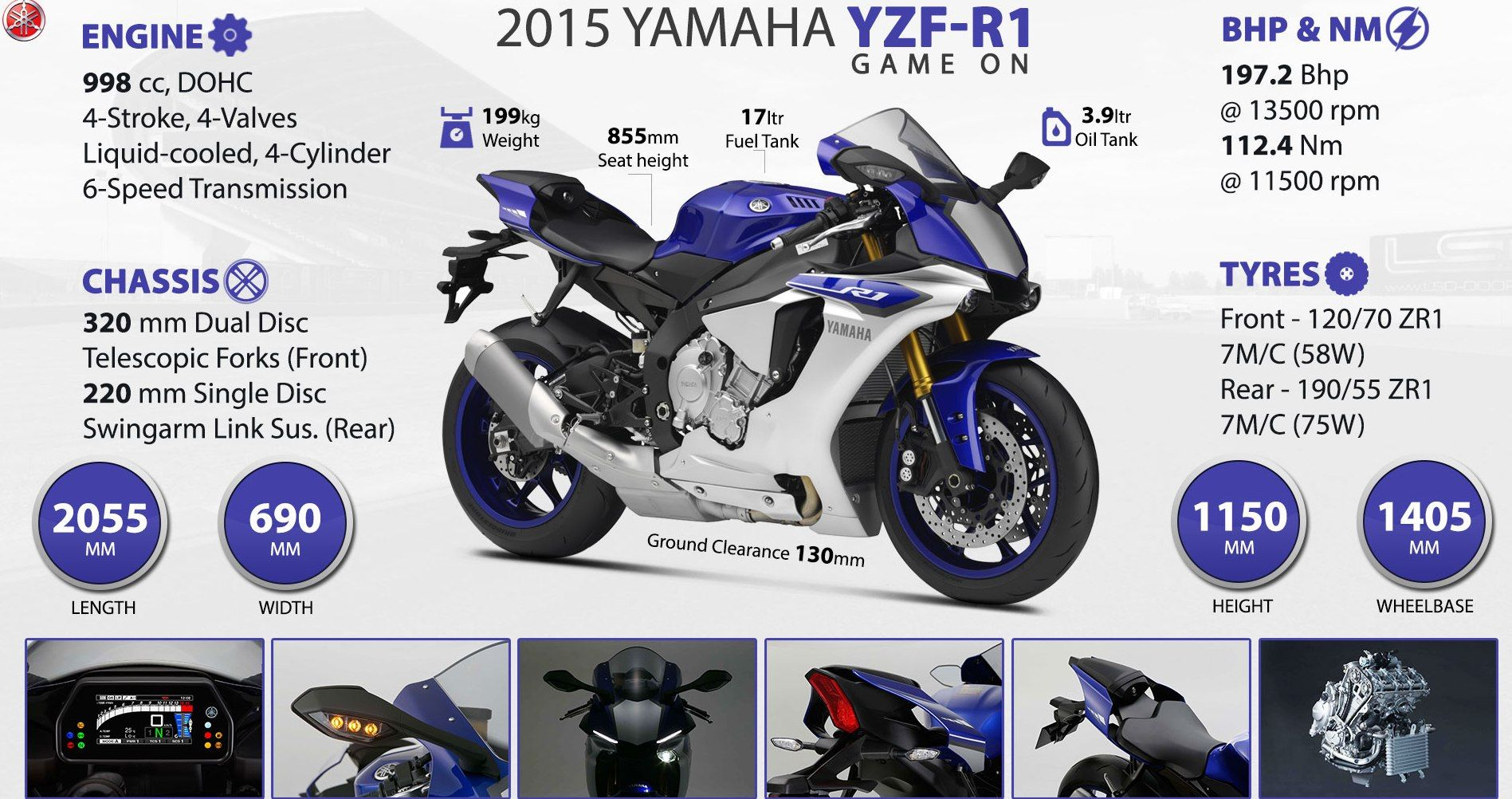 Recently launched yamaha motor new yamaha yzf r1 bike in india it is fantastic bike for mileage good performance comfort and design by innovativ