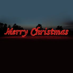 Holiday Lighting Specialists 5 75 Ft Merry Christmas Outdoor Christmas Decoration With Led Red L Outdoor Christmas Decorations Holiday Lights Outdoor Christmas