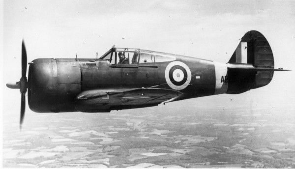 The Curtiss P-36 Hawk , in the Royal Air Force became the Mohawk .