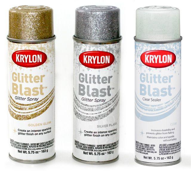 Glitter spray paint, Glitter spray