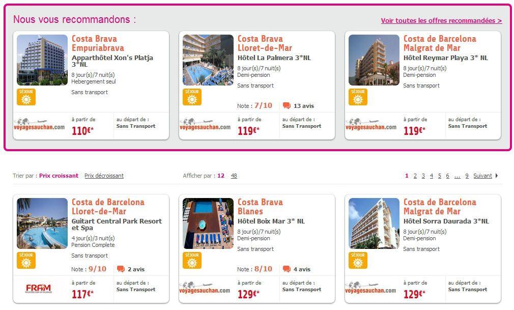 Espagne Voyages Auchan, réservez un Séjour Espagne pas cher dès 110 Euros avec Voyages Auchan et partez en vacances en famille ou entre amis en Espagne à petits prix.