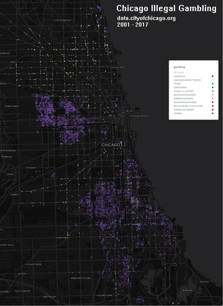 Chicago Illegal Gambling 2001  2017 by supaplex map chicago