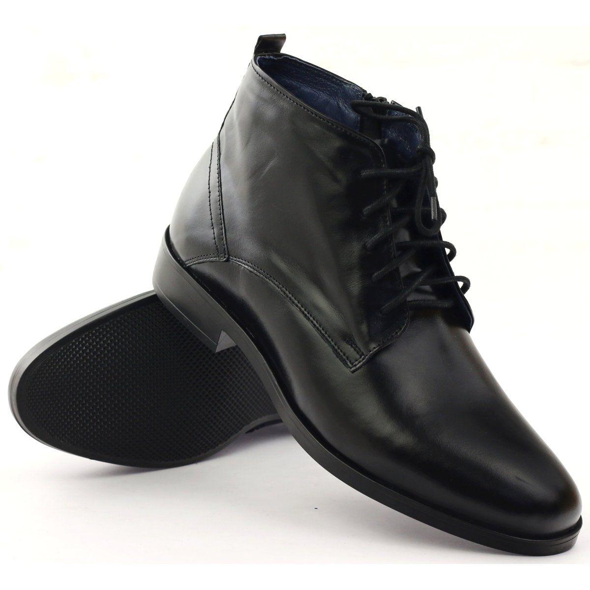 Botki Zimowe Na Suwak Nikopol 663 Czarne Boots Men Dress Shoes Men Winter Boots