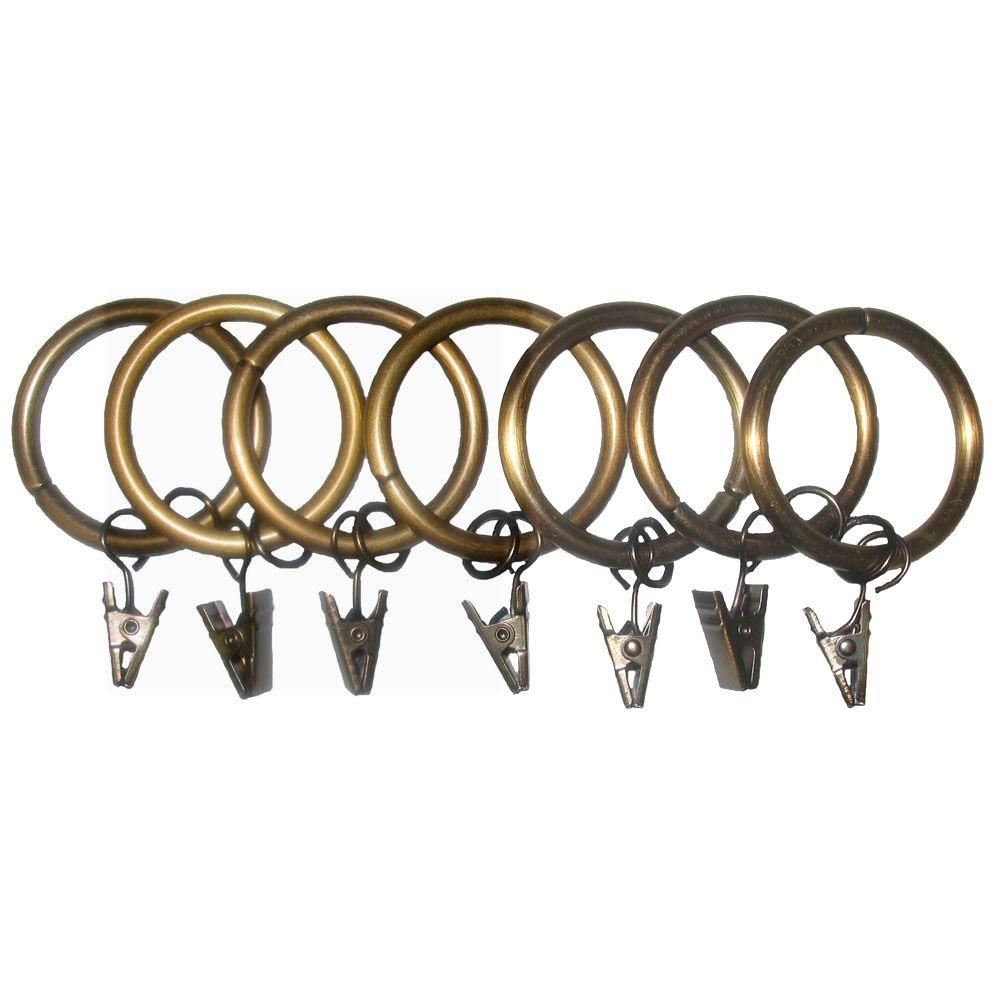 Classic Home 7 Pack 1 1 4 In Egyptian Gold Drapery Rings With