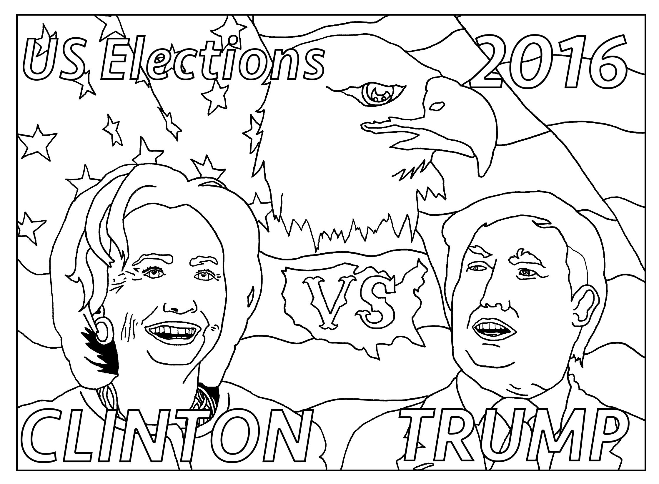 free coloring page coloring adult us presidential elections 2016 rh pinterest com election day coloring sheets - Obama Coloring Pages