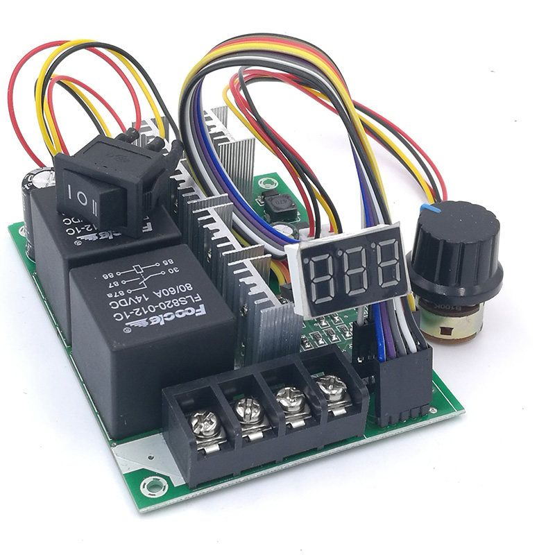 PWM speed controller DC motor Digital display 0~100