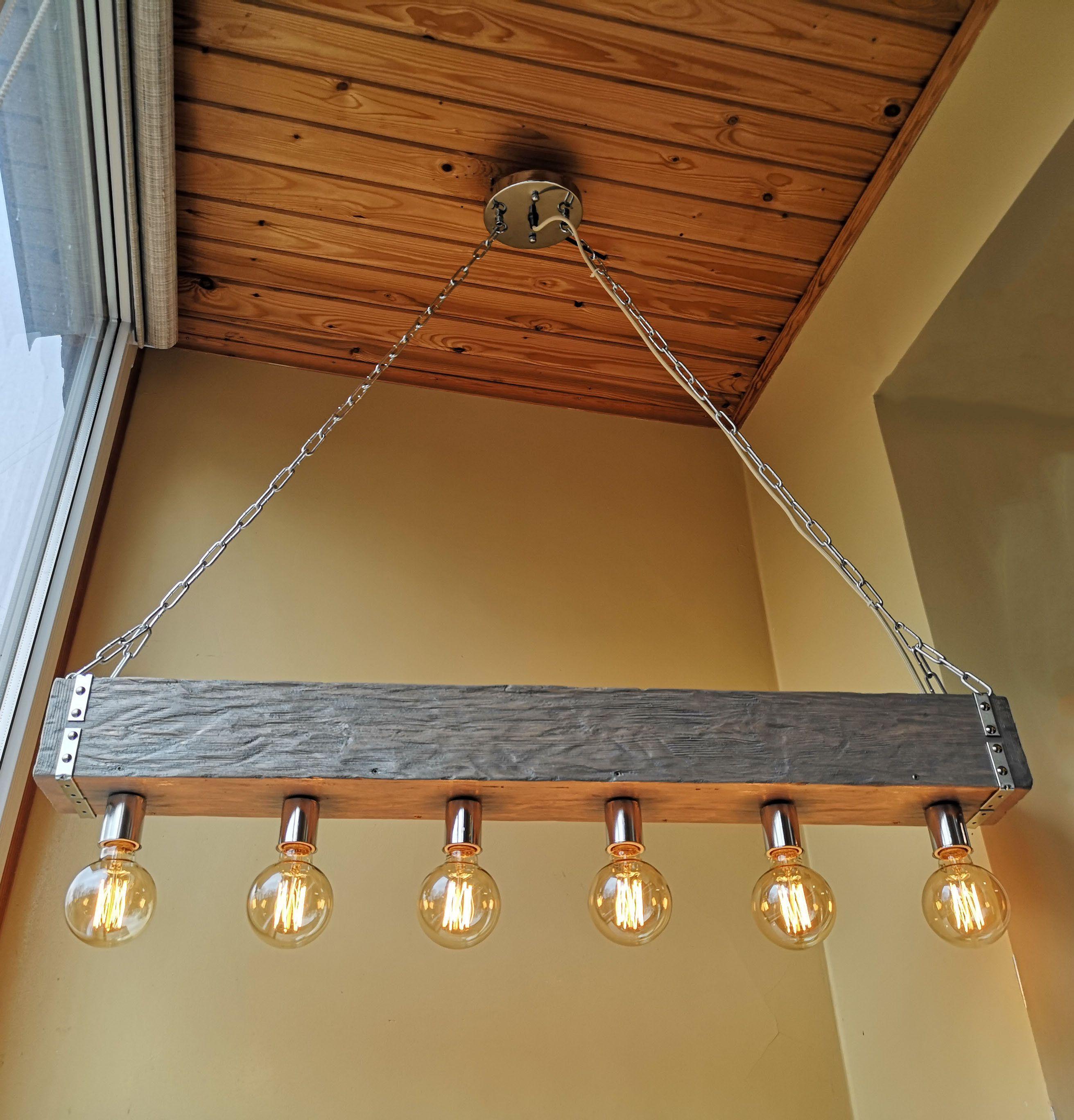wooden chandelier rustic lighting