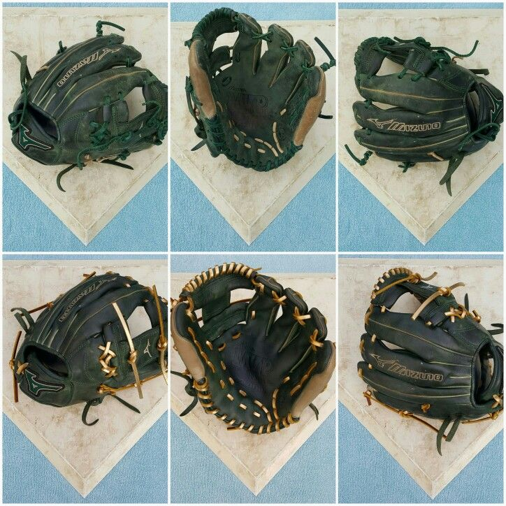 Mizuno Mvp Prime Glove Relaced In Foil Gold Cleaned And Conditioned Leather Bracelet Gloves Cleaning