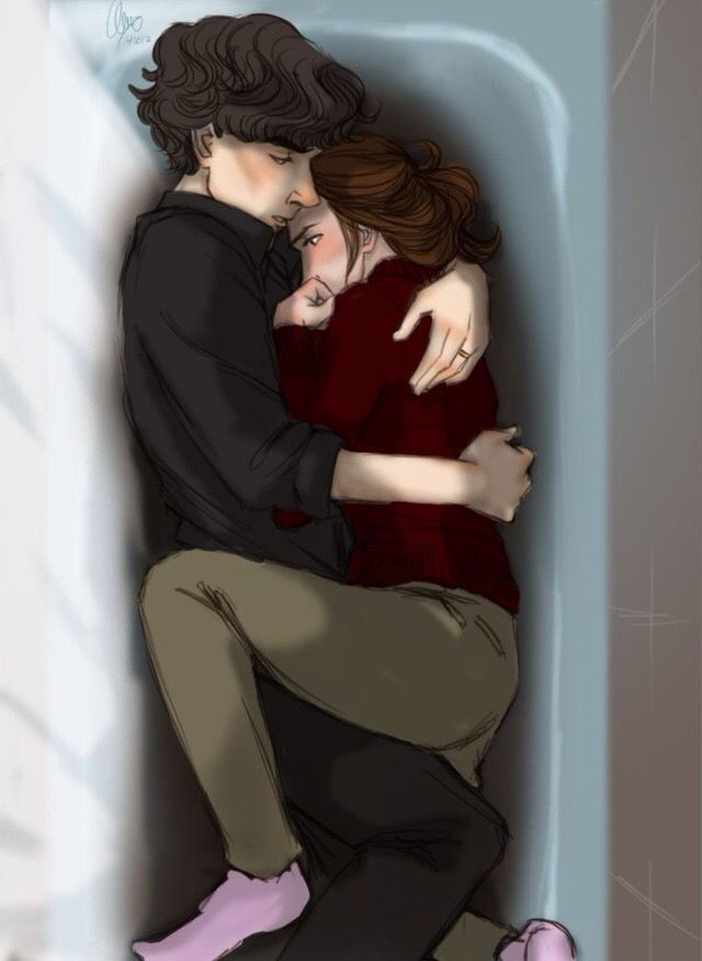 I Wish I was the girl cuddling with Sherlock in the bathtub