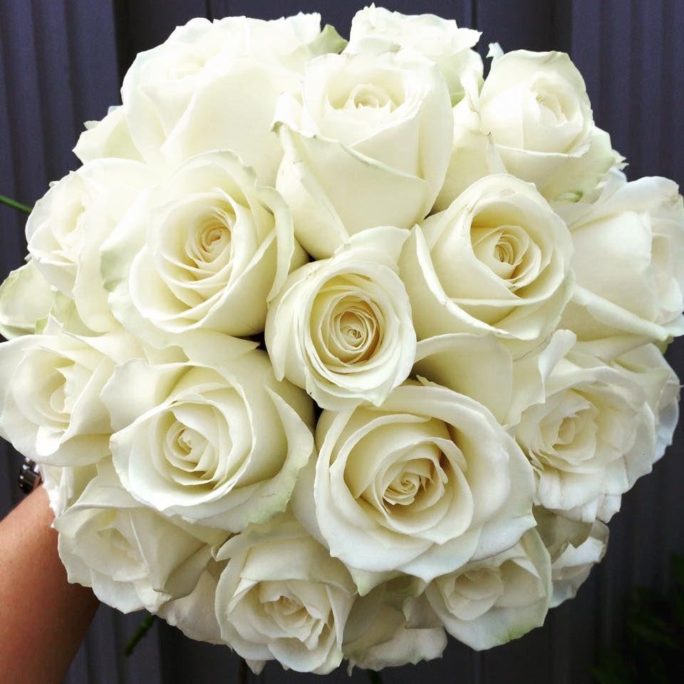 White Rose Dome Bridal Bouquet Luxury Bouquet Flower Bouquet Wedding Wedding Flowers