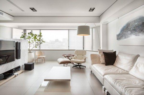 Stadt-Weiß und Schwarz-Modern Apartment Interior Design Helle - wohnideen und inspiration