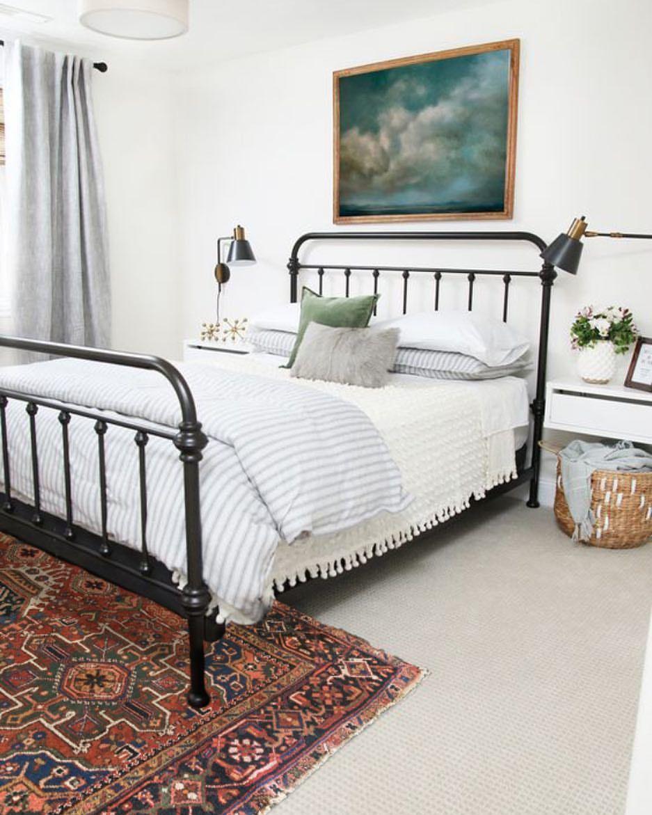 Antique Black Bed   Vintage Art   Home decor bedroom, Guest ...