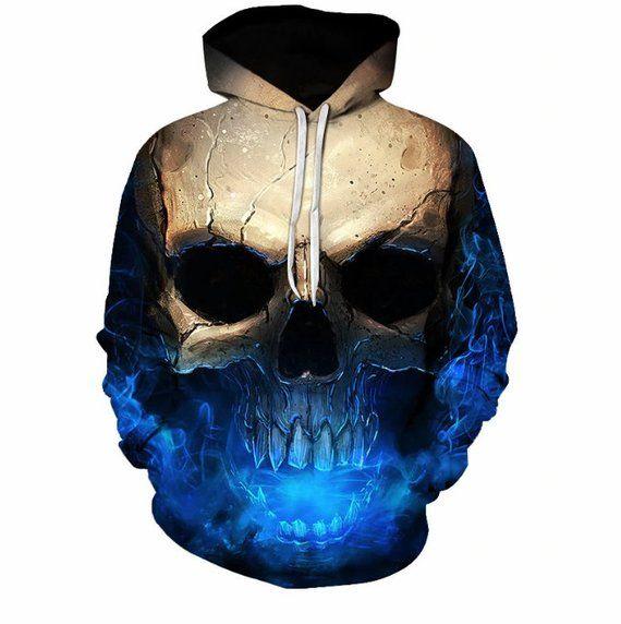 da30154f48a7 Gothic Skull Hoodie