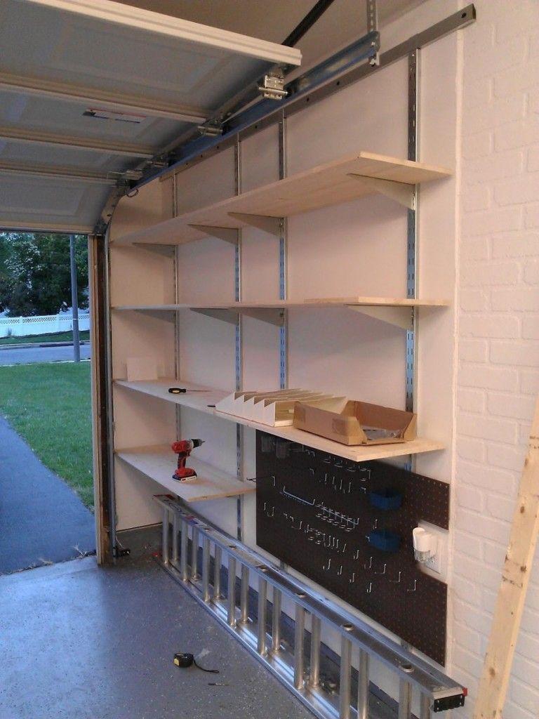 Wall Mounted Garage Shelving Garage wall shelving