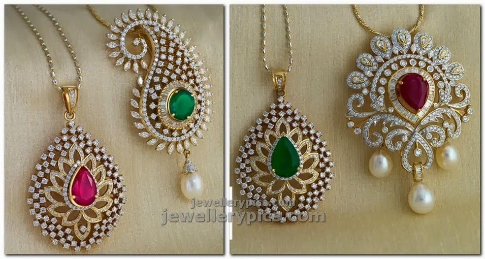png changeable diamond pendent designs | Indian Jewelry ...
