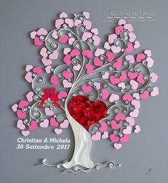 quilling , quilling paper, paper art, art, love, design, love heart, the love tree, love tree, quilling tree, anniversary, love art, wedding art, guess book, hearts, quilling art, quilling paper art