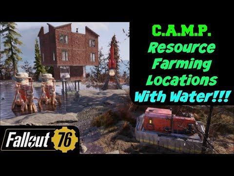 Fallout 76 C A M P Resource Farming Locations With Water Youtube Note C A M P Design Make Blueprint Fallout Locations Water