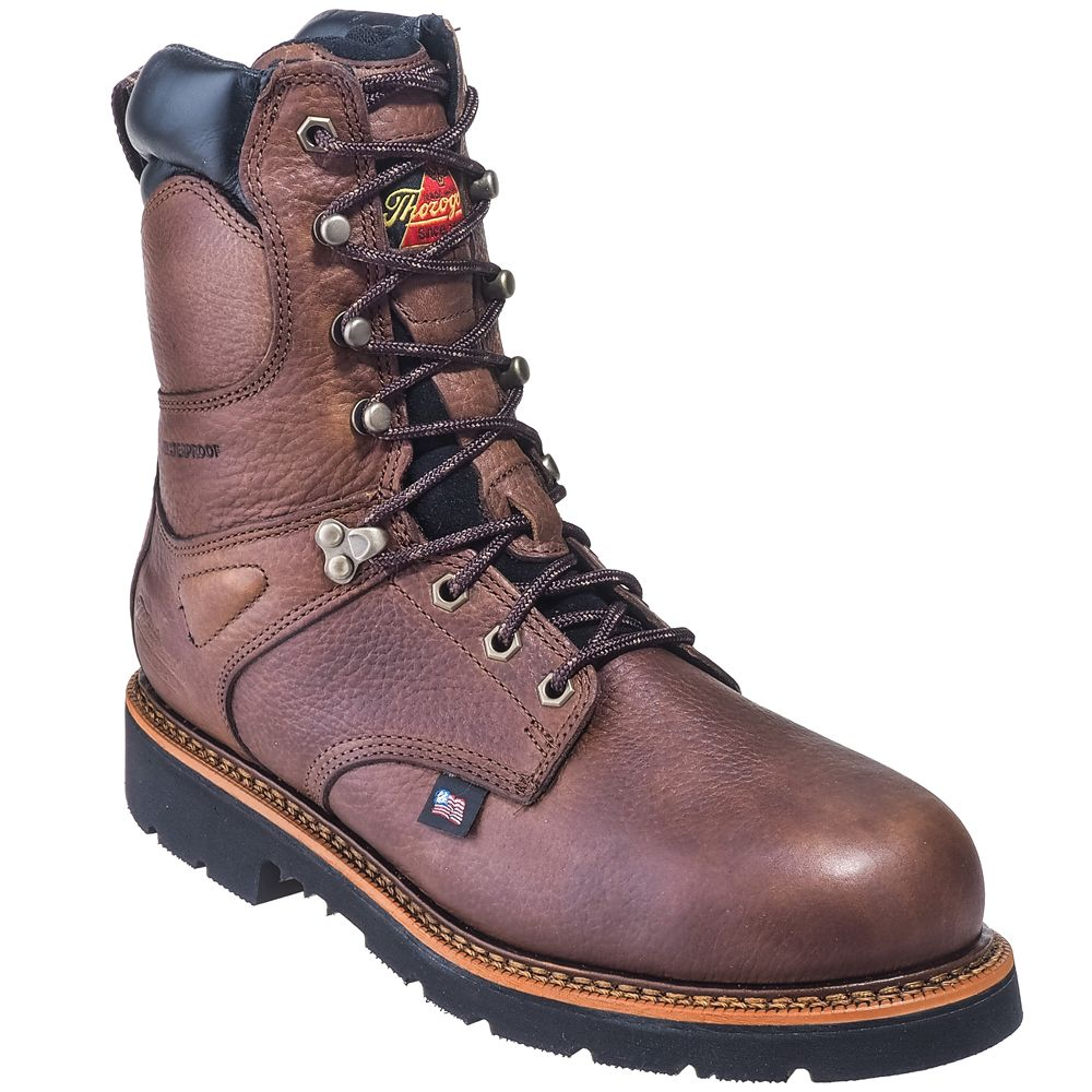a9cfb70490e Thorogood Boots Men's 804-4718 USA-Made Waterproof Insulated Steel ...