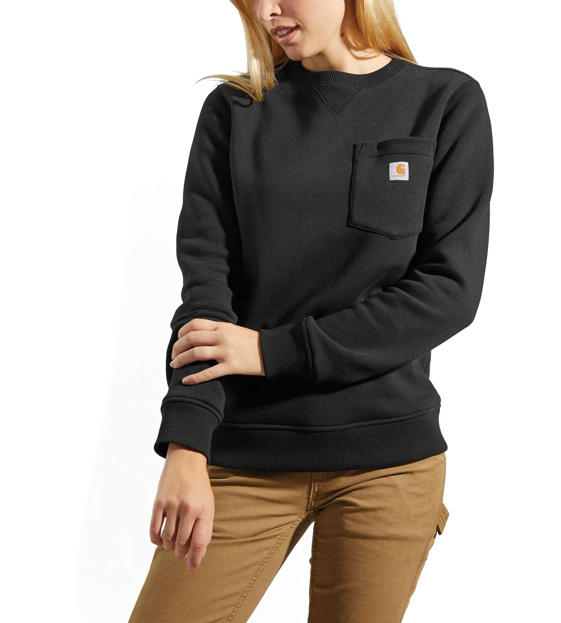 Carhartt Clarksburg Crewneck Pocket Sweatshirt Black 2xl Sweatshirts Women Pocket Sweatshirt Sweatshirts [ 2000 x 1801 Pixel ]