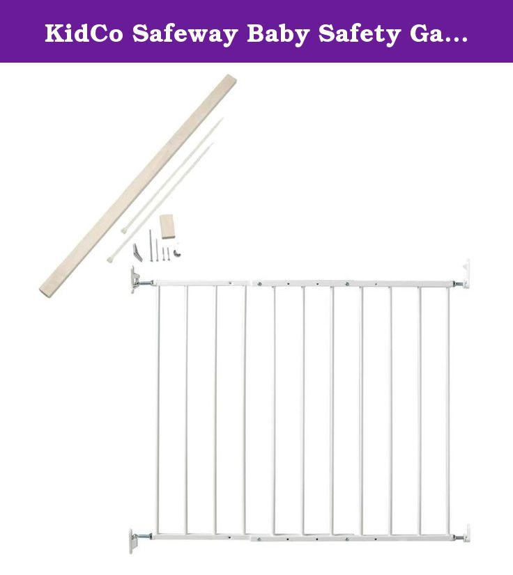 Kidco Safeway Baby Safety Gate With No Drilling Installation Kit