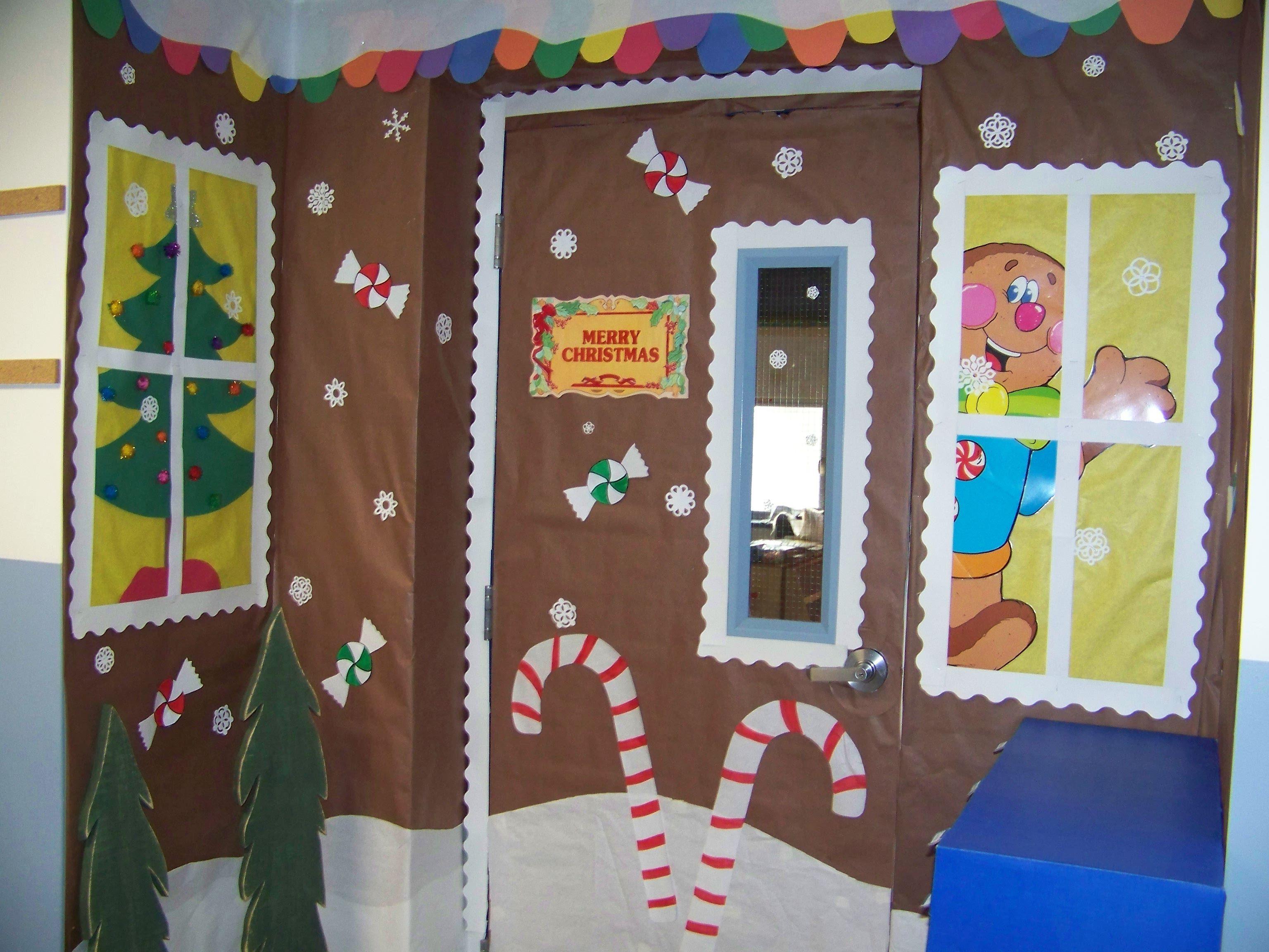 This Is My Classroom Door Gingerbread House It Took Me 6