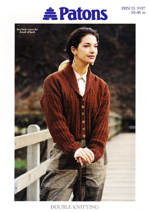 Patons Knitting Pattern 5197 Dk Ladys Cable Leaf Jacket