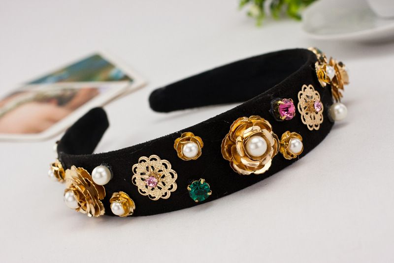 Find More Hair Jewelry Information about Korea vintage catwalk show DG wind hair accessories flower Pearl rhinestone headband Baroque womens crystal hairband B803,High Quality Hair Jewelry from The Sunny Day on Aliexpress.com