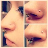 New Photo Nose Piercings scar Concepts  A facial piercing is really a strong sta...,  #Concep... #doublenosepiercing