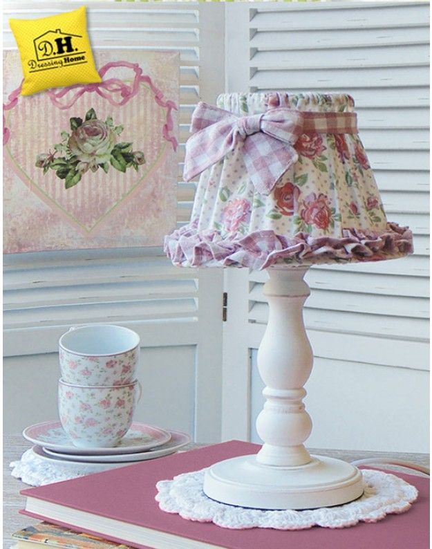 Lampada shabby chic angelica home country rose fiorite for Angelica home country