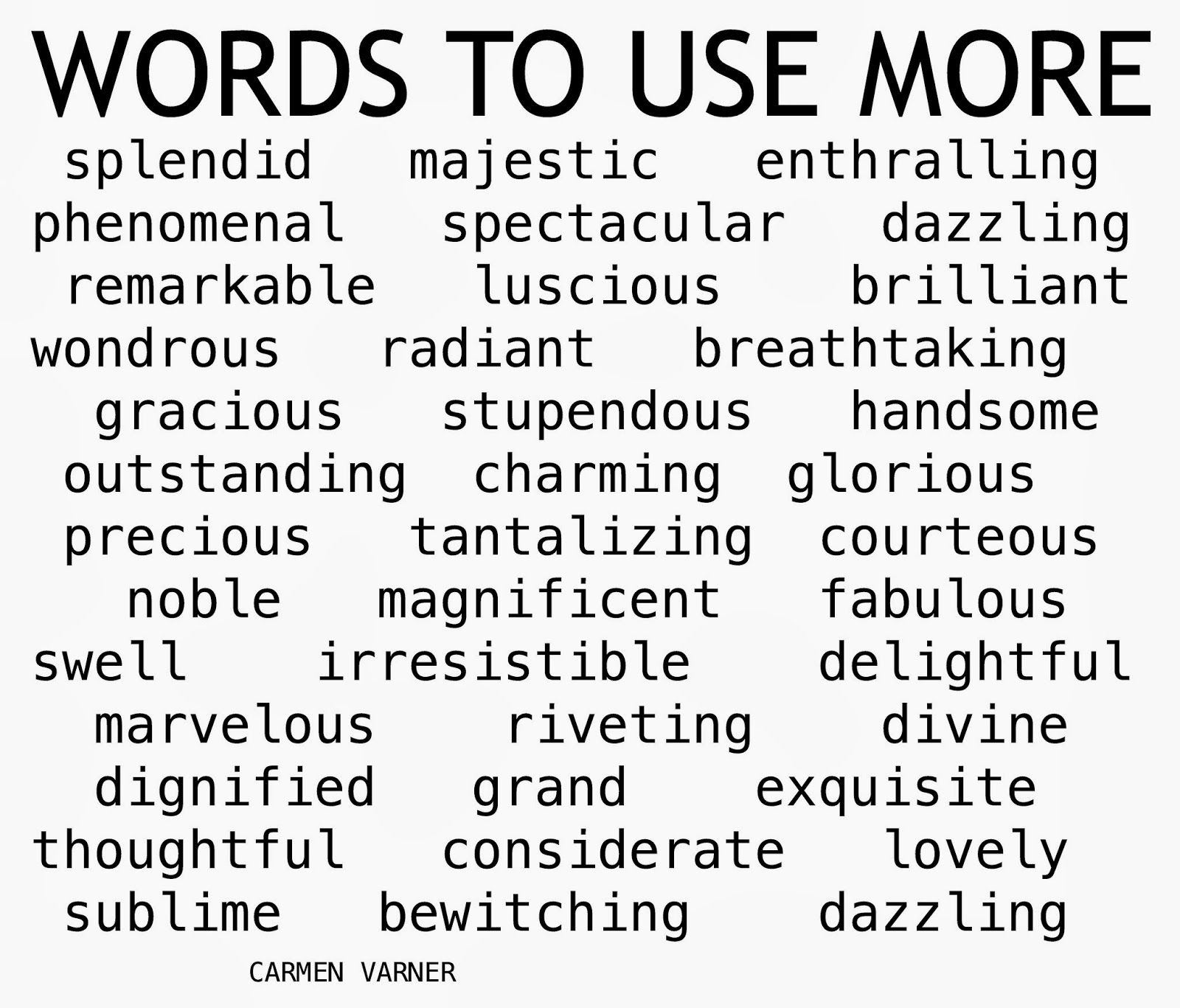 Inspirational Word List