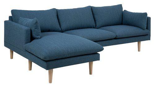 Ubrugte Sofa VAXHOLM m/venstre chaiselong blå | JYSK | For my Home | Sofa DE-28