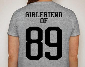 Sports Girlfriend Of Customized T Shirt Proud Football Baseball