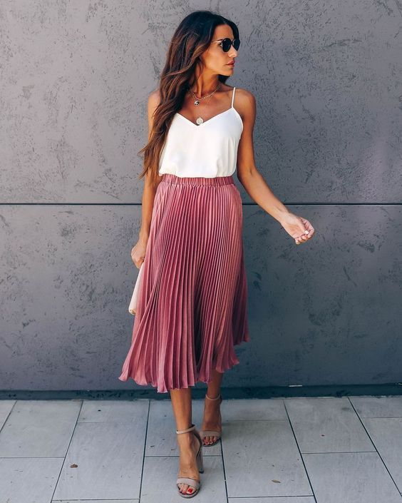 10+ Casual Summer Outfits With Midi Skirt