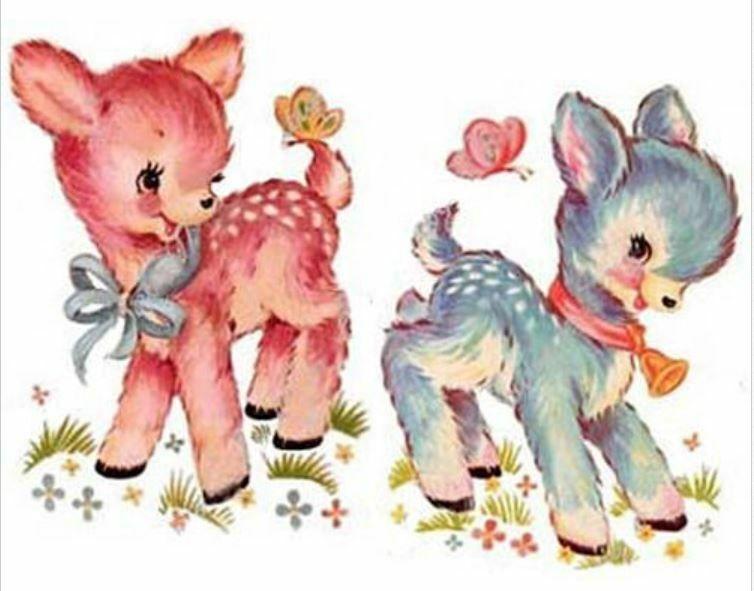 Vintage Image Baby Lamb Nursery Shabby Waterslide Decals Sweet In 2020 Vintage Kitsch Cute Art Vintage Illustration