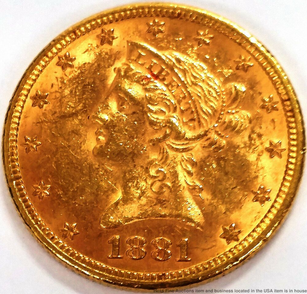 1881 10 Ten Dollar Liberty Head Gold Eagle Us Mint American Coin Silver Coins For Sale Us Silver Coins American Coins
