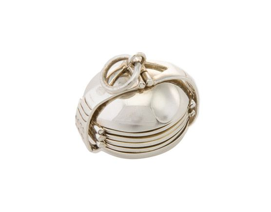 4ece48539f49 Unusual christening gifts - Silver Memory Ball keepsake - solid silver  pendant with four hidden photo frame chambers - £120 from ...
