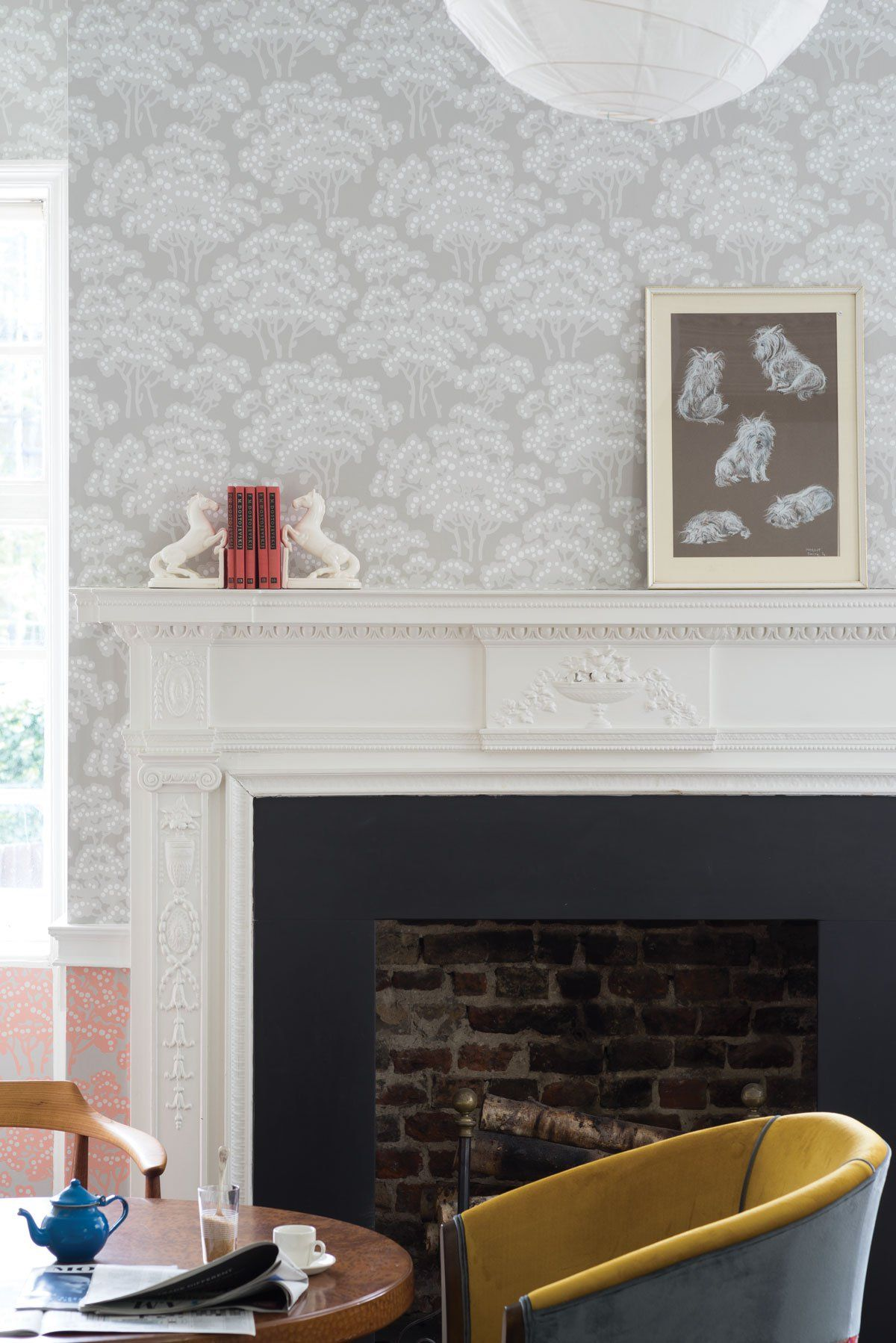 Hornbeam Farrow ball, Floral print wallpaper