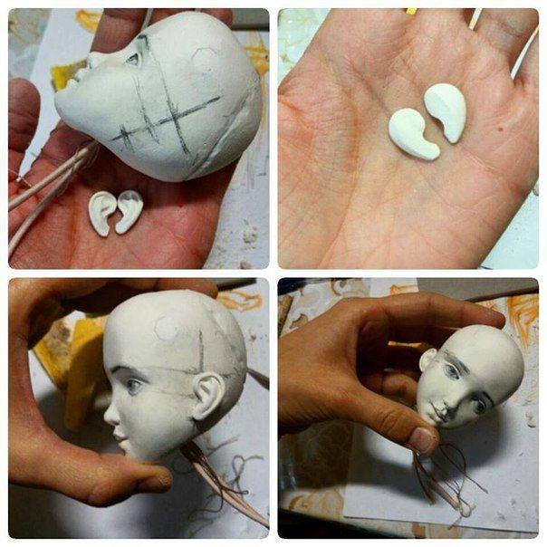 Pin von Ольга Кугель auf куклы Pinterest DIY und Selbermachen - figuren aus ton selber machen