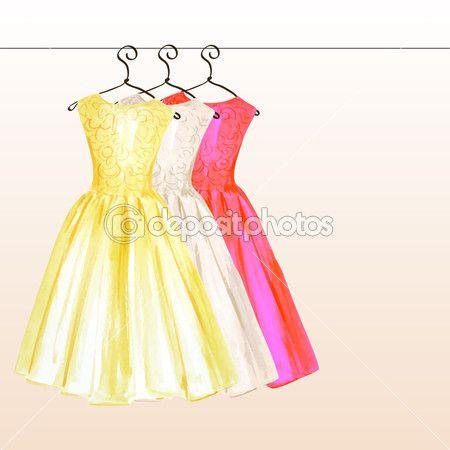 Kleider in pastell tonen