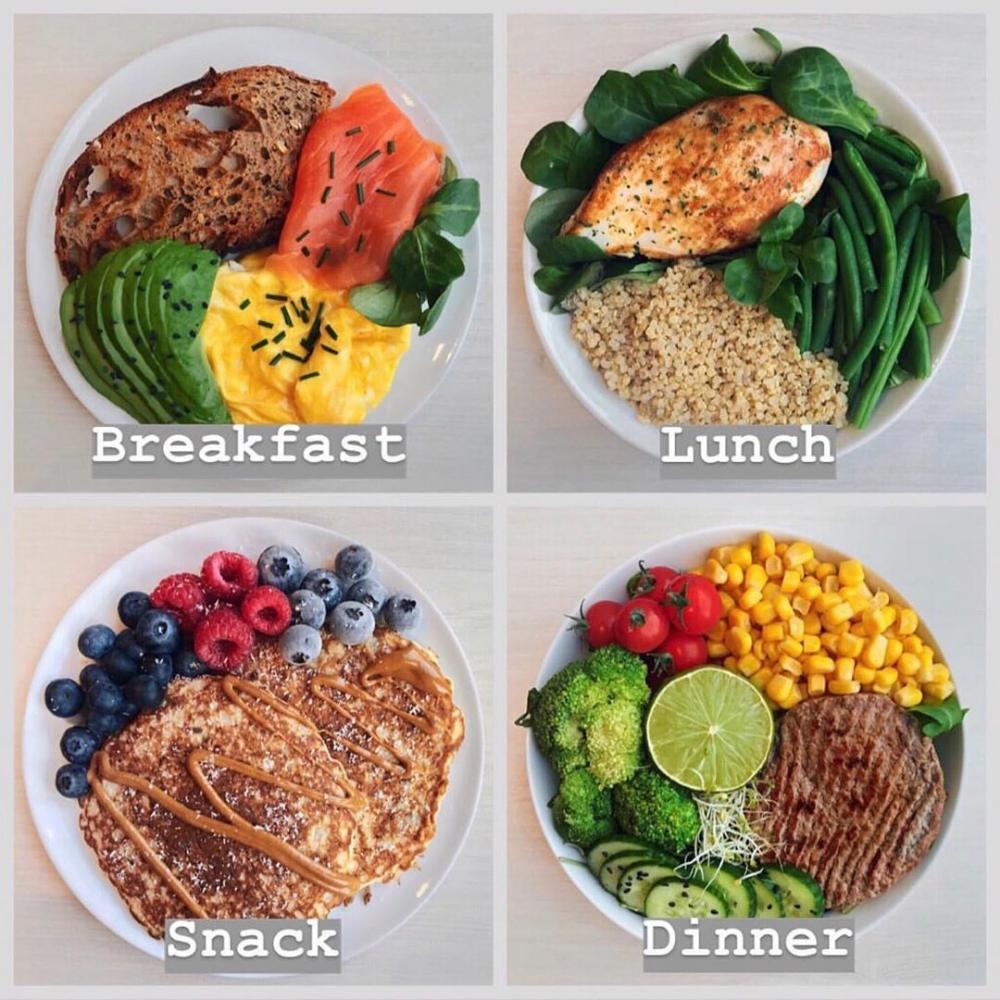 Journée Complète De Repas Choisissez 1 4 Mary Perte De Poids Alimentation Manger Sainement Mode De Vie Sain