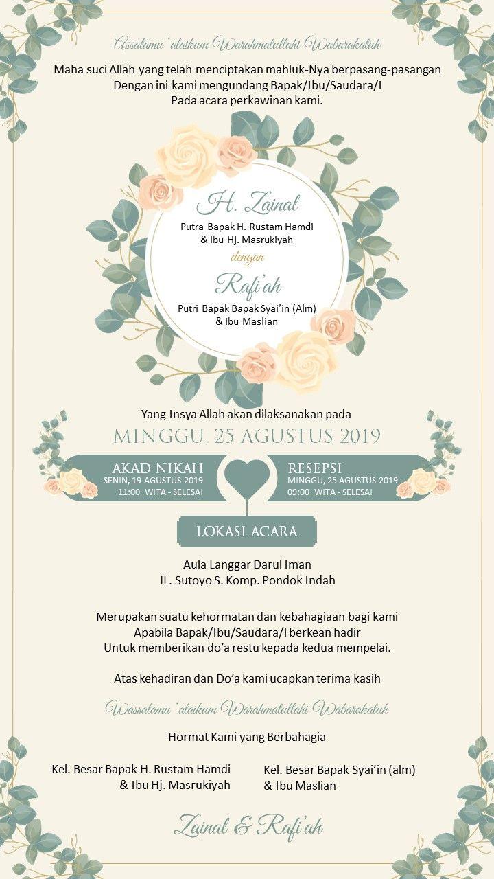 Jasa Desain Undangan Digital Dengan Warna Soft Undangan Pernikahan Lucu Undangan Pernikahan Pernikahan Bunga
