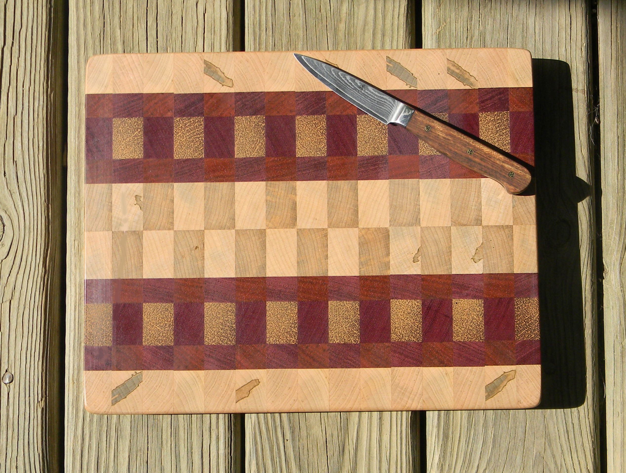 Vintage Rosewood And Maple Cutting Board