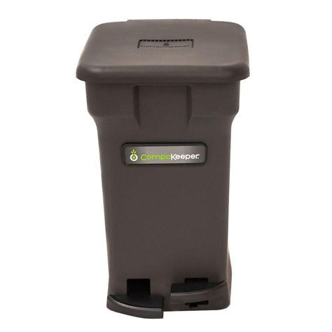 Home Depot Compost Bin 6 Galblack Hands Free Indoor Compost Bin  Composting And Gardens