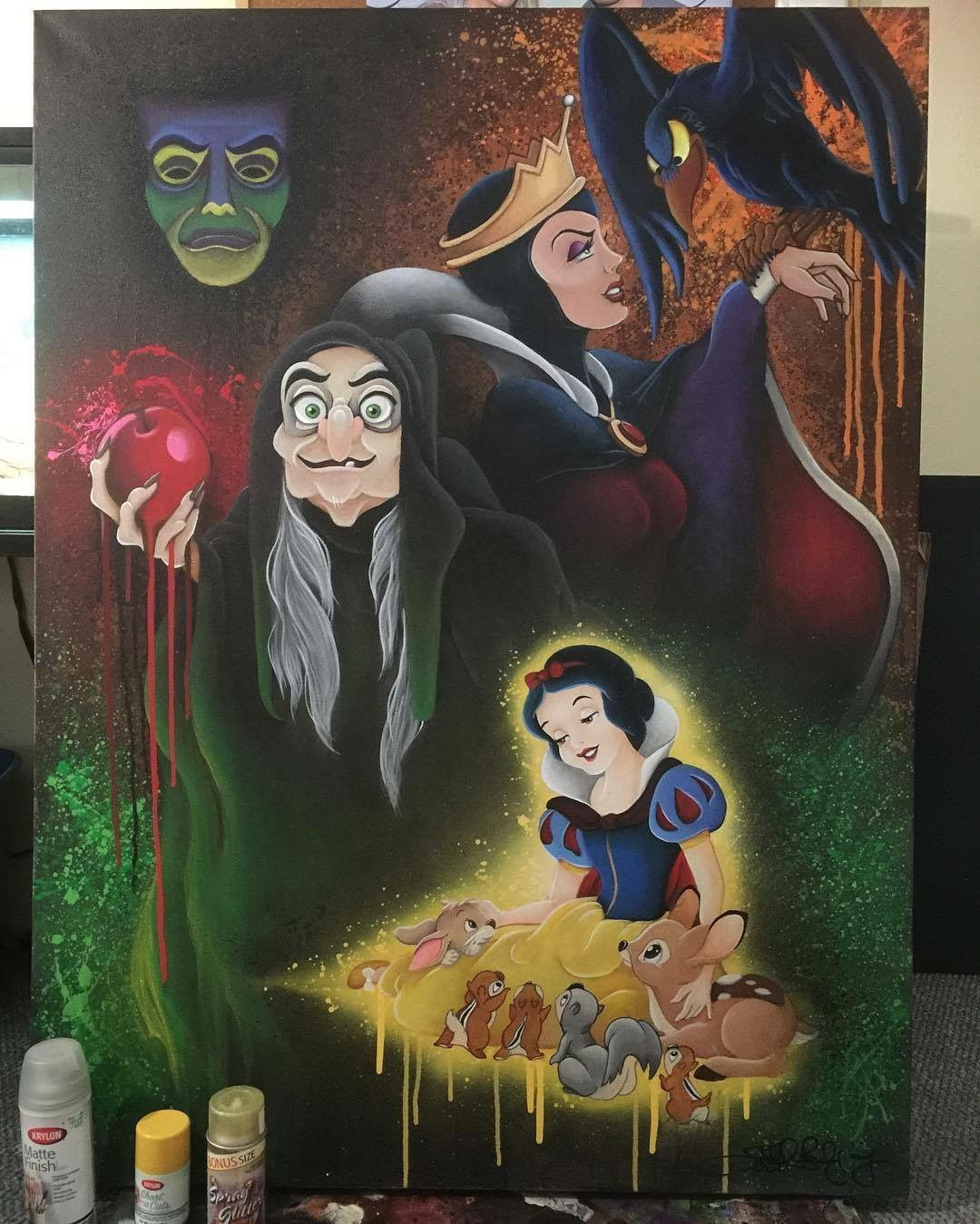 Snow White  Evil Queen Grimhilde also as the Old Hag feat the