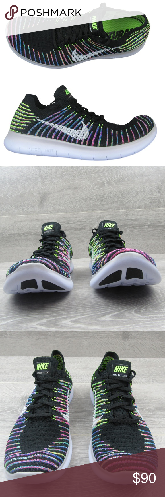 cb875da509a Nike Free RN Flyknit Running Shoes Size 10.5 Mens Nike Free RN Flyknit  Running Shoes Mens