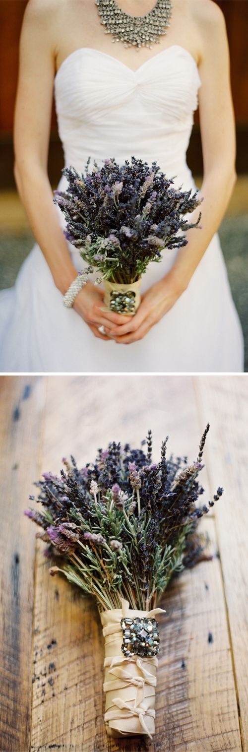 Lavender bouquet. #FarmWeddingIdeas