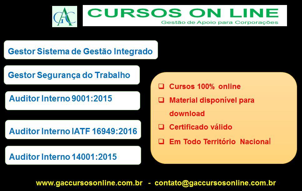 Gac Cursos Online Cursos 100 Online Certificado Valido Em Todo Territorio Nacional Cursos Des Seguranca No Trabalho Cursos Online Gerenciamento De Residuos