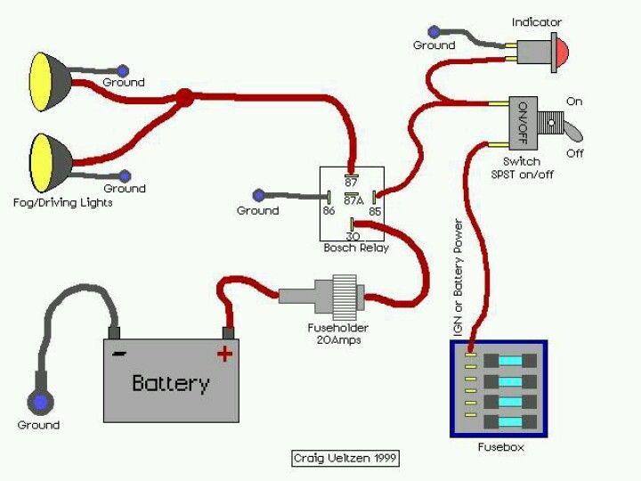 5 pin relay wiring diagram ground