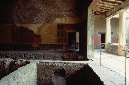*POMPEII, ITALY ~ House of Menander, Pompeii (UNESCO World Heritage List, 1997), Campania, Italy. Roman civilisation, 3rd century BC-1st century AD.