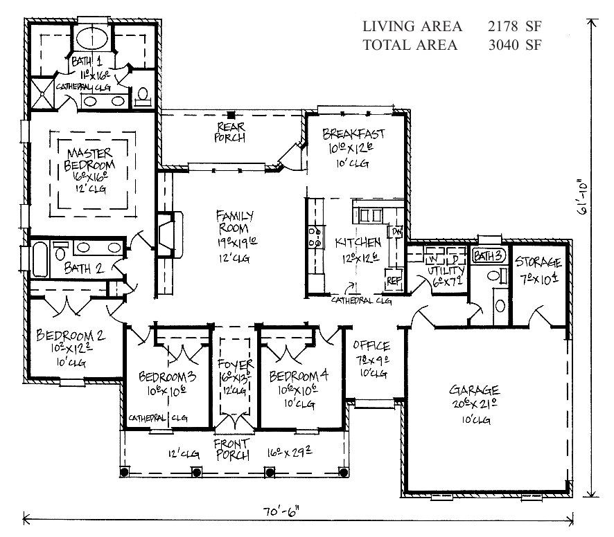 Floor plan for Karsyn Country French house plan Home Pinterest